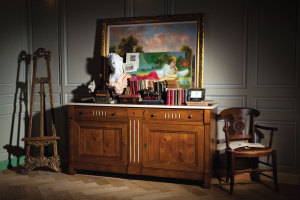 Enfilade traditionnel en merisier. Classic style buffet cherry