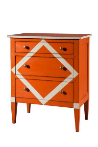 commode motif drapeaux - flag style chest of drawers