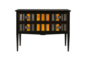 commode rayée noire - black striped chest