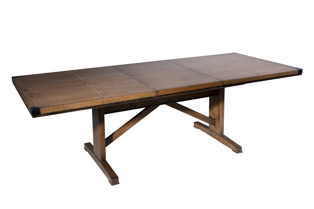 table d'atelier industriel pied bistrot avec allonges- bistrot base industrial table