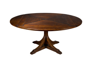 table pied central ronde- central base round table