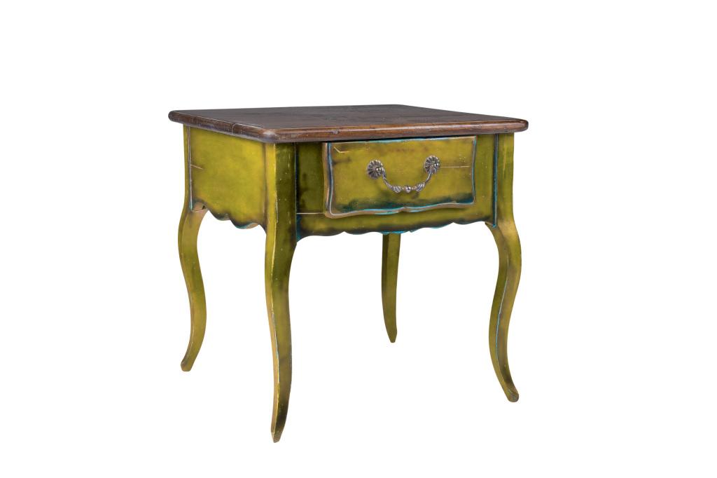 bout de canapé jaune- Yellow side table