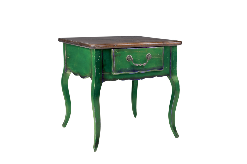 bout de canapé vert- green side table